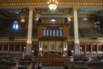 A wide look at the Iowa House of Representatives chamber